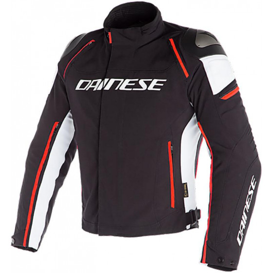 CHAQUETA DAINESE RACING 3 D-DRY WHITE / FLUO RED