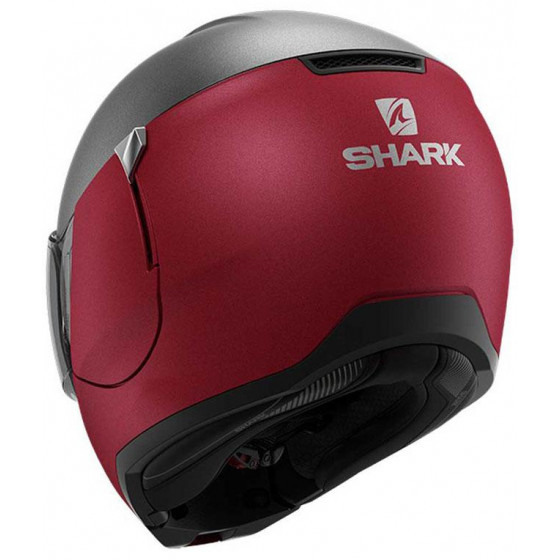 CASCO SHARK EVOJET DUAL BLANK MAT ANTHRACITE/RED