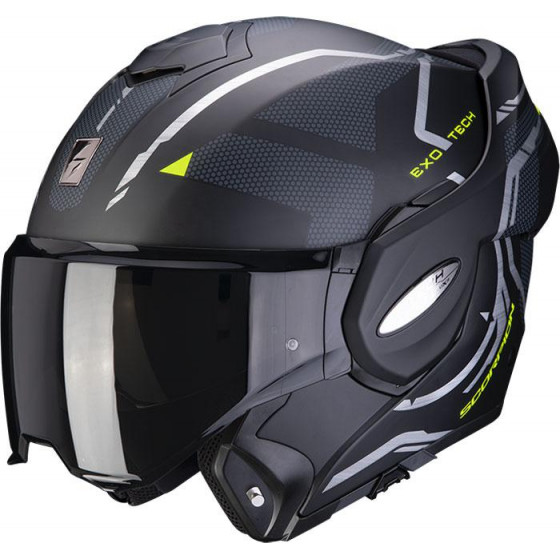 CASCO SCORPION EXO-TECH SQUARE BLACK/YELLOW