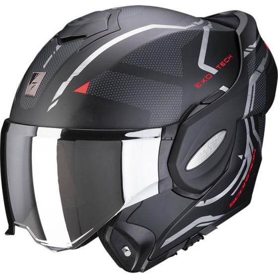 CASCO SCORPION EXO-TECH SQUARE BLACK/RED