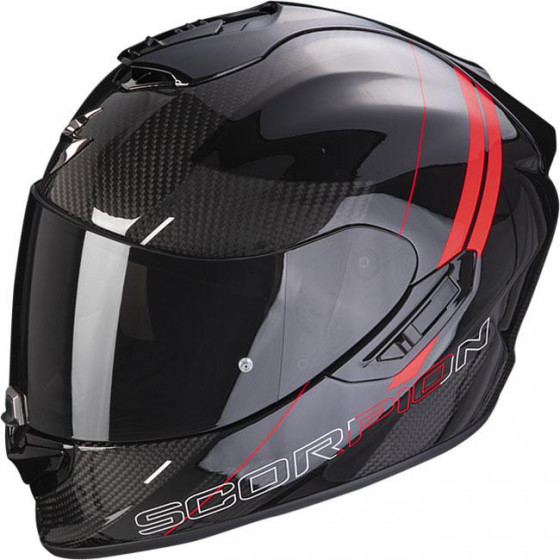 CASCO SCORPION EXO-1400 AIR CARBON DRIK BLACK/RED