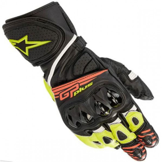 GUANTES ALPINESTARS GP PLUS R V2 BLACK/YELLOW FL