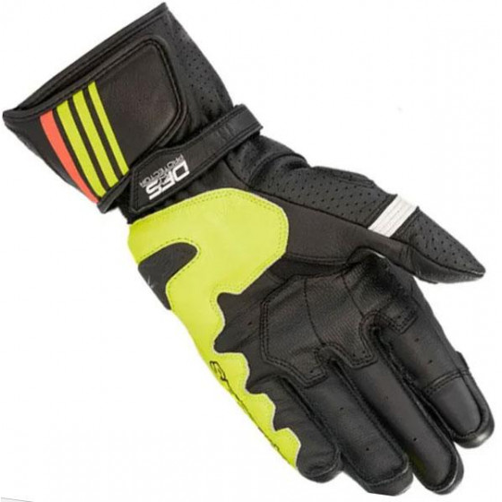 GUANTE ALPINESTARS GP PLUS R V2 BLACK/YELLOW FL