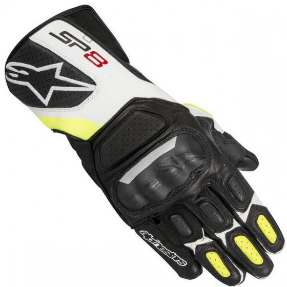 GUANTES ALPINESTARS SP-8 V2 BLACK / YELLOW FL