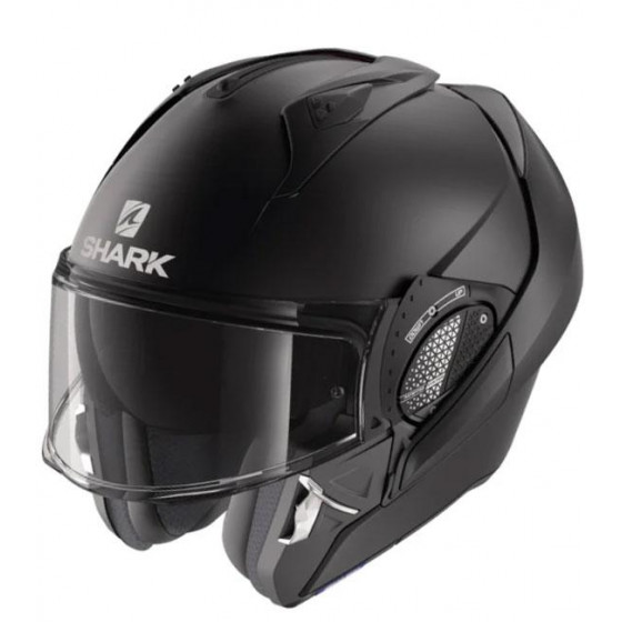 CASCO SHARK EVO-GT BLANK MAT BLACK KMA