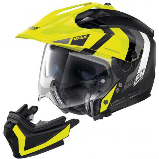 CASCO NOLAN N70-2 X DECURIO BLACK/YELLOW 30