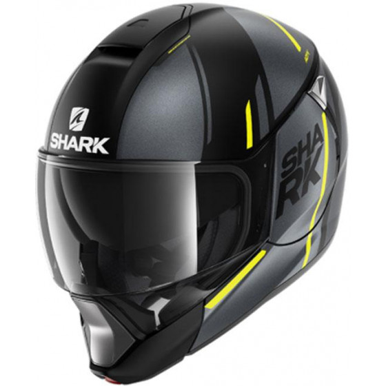 CASCO SHARK EVOJET VYDA MAT ANTHRACITE/YELLOW KAY