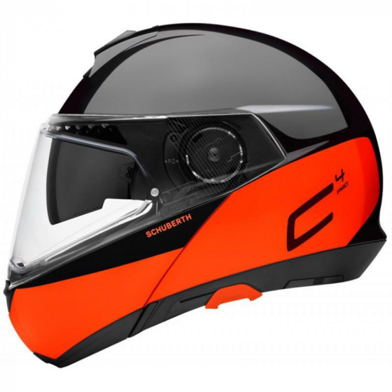 CASCO SCHUBERTH C4 PRO SWIPE BLACK/ORANGE