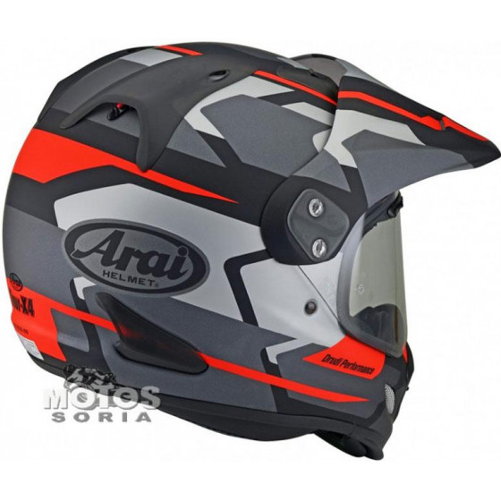 CASCO ARAI TOUR-X 4 DEPART GREY/RED