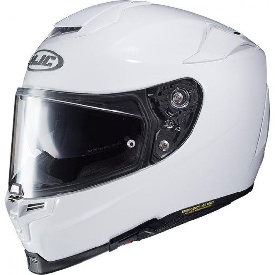 CASCO HJC RPHA 70 PEARL WHITE RYAN