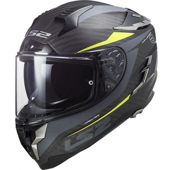 CASCO LS2 FF327 CHALLENGER CARBON DRONE YELLOW