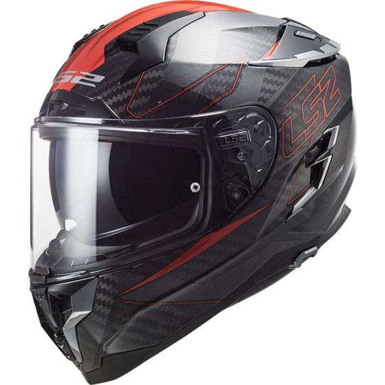 CASCO LS2 FF327 CHALLENGER CARBON FOLD RED