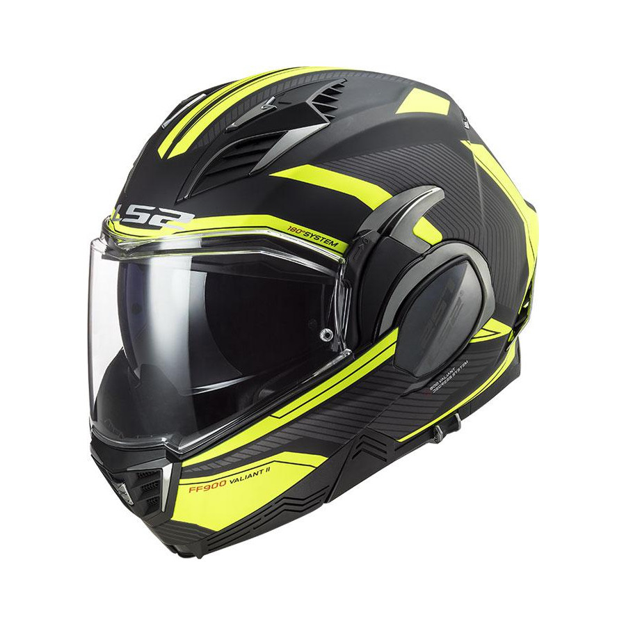 CASCO LS2 FF900 VALIANT II REVO BLACK H-V YELLOW