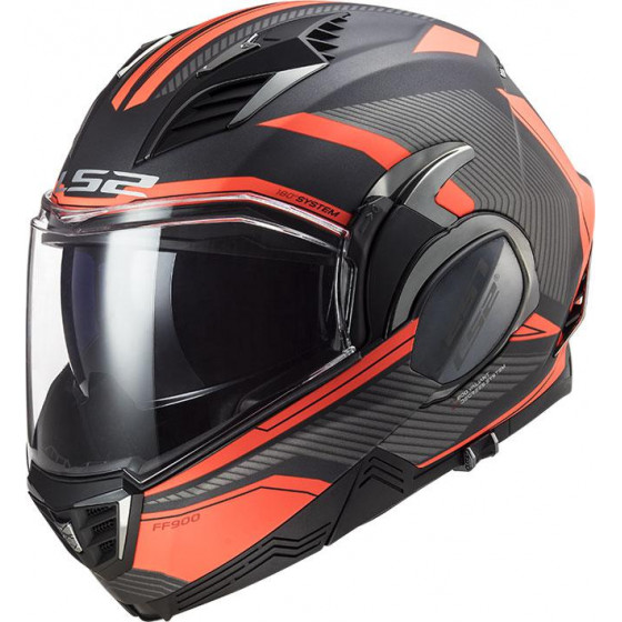 CASCO LS2 FF900 VALIANT II REVO BLACK ORANGE
