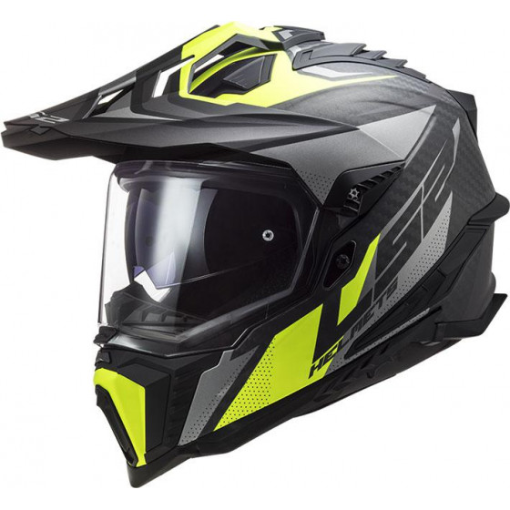 CASCO LS2 MX701 EXPLORER CARBON FOCUS H-V YELLOW