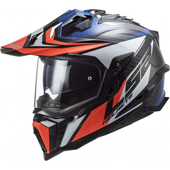 CASCO LS2 MX701 EXPLORER CARBON FOCUS BLUE / RED