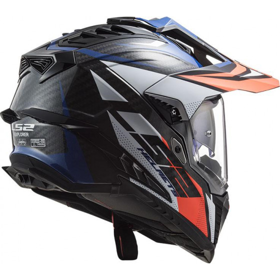 CASCO LS2 MX701 EXPLORER C FOCUS BLUE / RED
