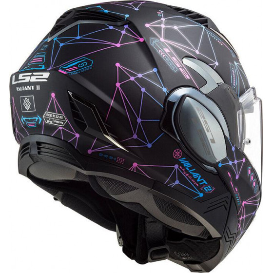 CASCO LS2 FF900 VALIANT II STELAR MATT BLACK BLUE