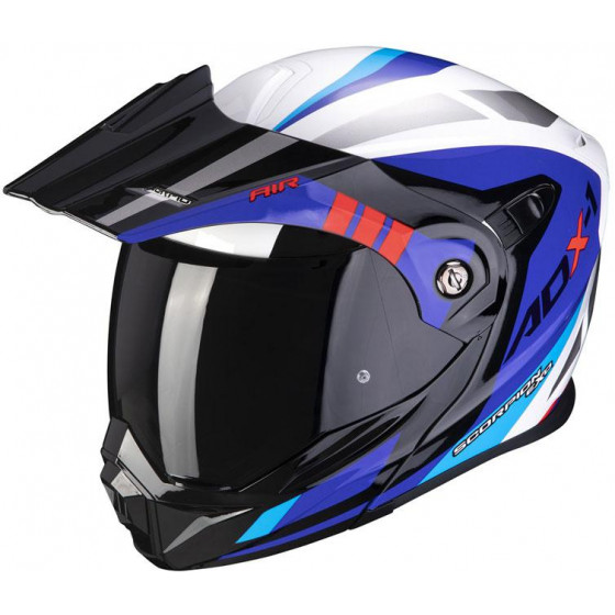 CASCO SCORPION ADX-1 LONTANO WHITE / BLUE / RED