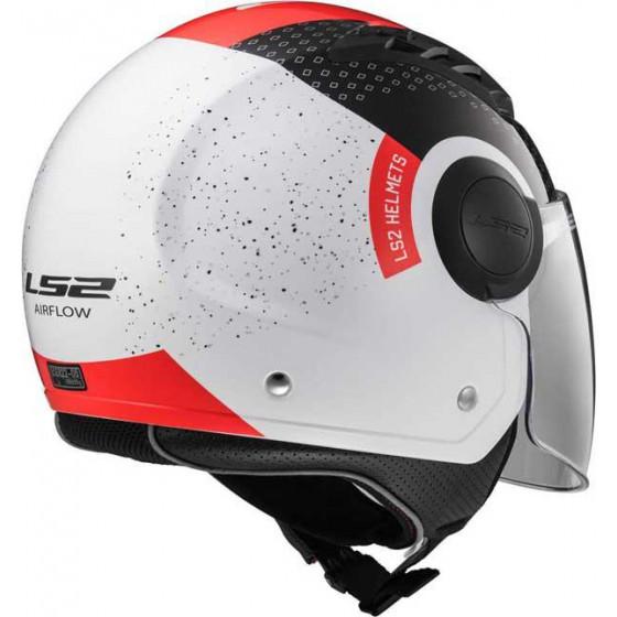 CASCO LS2 OF562 AIRFLOW CONDOR WHITE BLACK RED