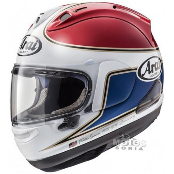 CASCO ARAI RX-7 V SPENCER 40TH RED