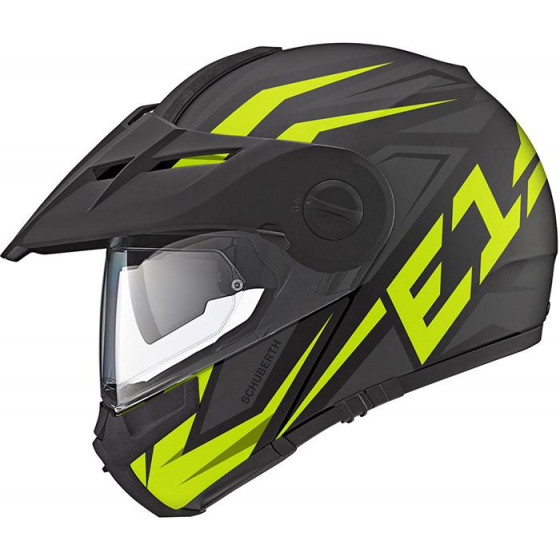 CASCO SCHUBERTH E1 TUAREG BLACK / YELLOW