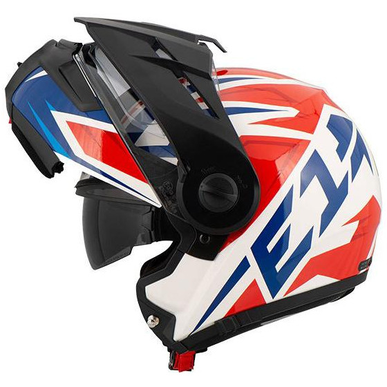 CASCO SCHUBERTH E1 TUAREG WHITE / RED