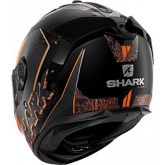 CASCO SHARK SPARTAN GT RYSER ANTHRACITE ORANGE KAO