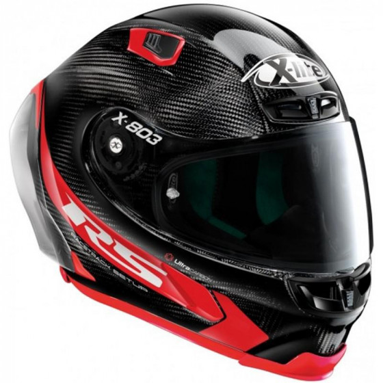 CASCO X-LITE X-803 RS U.C. HOT LAP ROJO 13